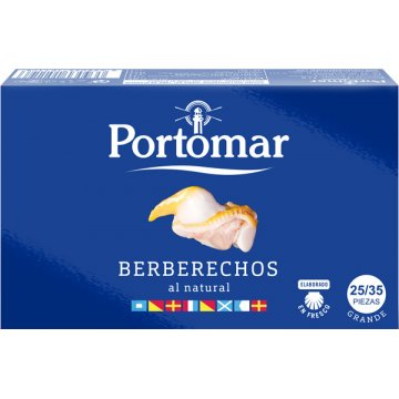 Berberechos Portomar 25/35 Piezas 120gr