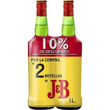 Whisky J&b 1lt Pack 2 Bot 10% Dto