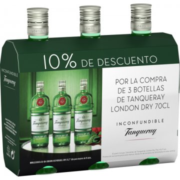 Gin Tanqueray 70cl Pack 3bot Promocaja 10% Dto